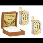 Złote kolczyki z cyrkoniami diamentowane