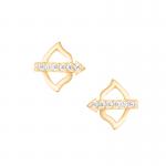 Złote kolczyki Strzała Amora