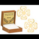 Złote kolczyki ażurowe koniczynki