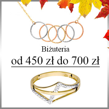Biżuteria od 450 do 700 zł